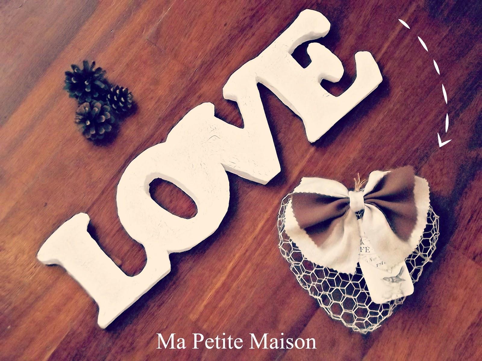 Handmade valentine shabby chic love letters ma petite - Ma petite maison com ...