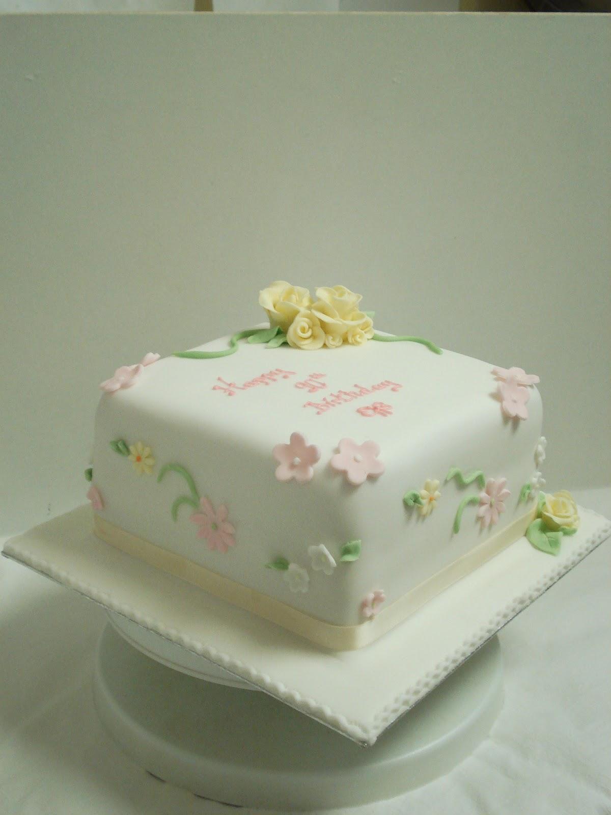 Square Victoria Sponge Cake