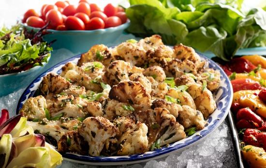 Roasted Cauliflower Brazilian Steakhouse Salad Bar