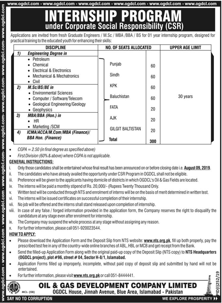 300+Post OGDCL Jobs Oil And Gas Development Company Limited Jobs 2019