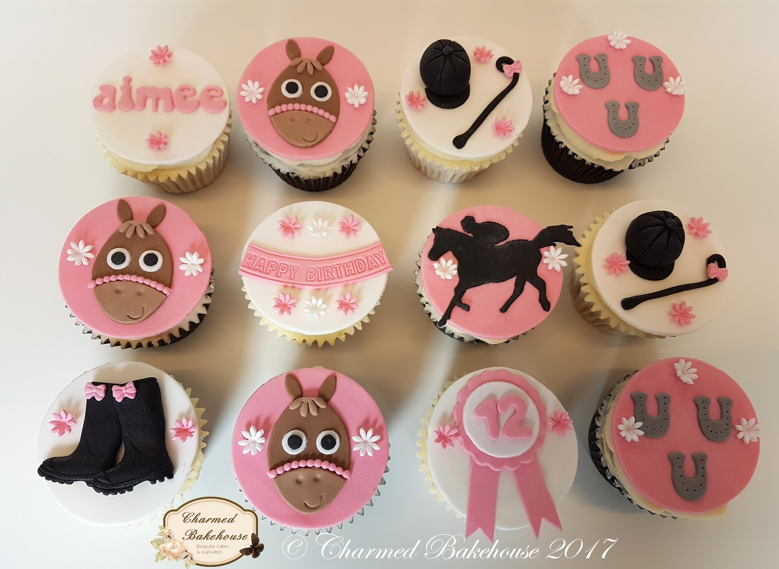 Horse Riding Themed Cupcakes