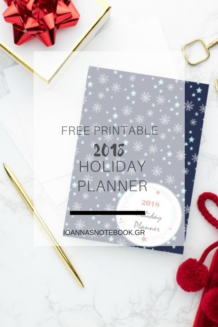 ΔΩΡΕΑΝ εκτυπώσιμο Γιορτινό Planner: Εκτυπώστε αυτό το ΔΩΡΕΑΝ γιορτινό ημερολόγιο και προγραμματίστε τις Γιορτές σας όσον το δυνατόν καλύτερα. Θα σας βοηθήσει να έχετε τα πάντα υπό έλεγχο και να κερδίσετε χρόνο για να απολαύσετε πραγματικά αυτή την περίοδο - Ioanna's Notebook