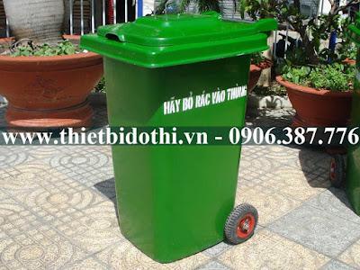 thùng rác công cộng hdpe
