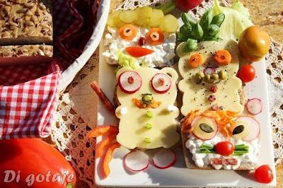 Wesołe kanapki dla dzieci - z chlebem bezglutenowym