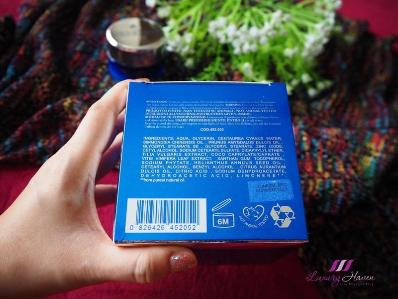 italian skincare paraben free jeunesse recovery cream