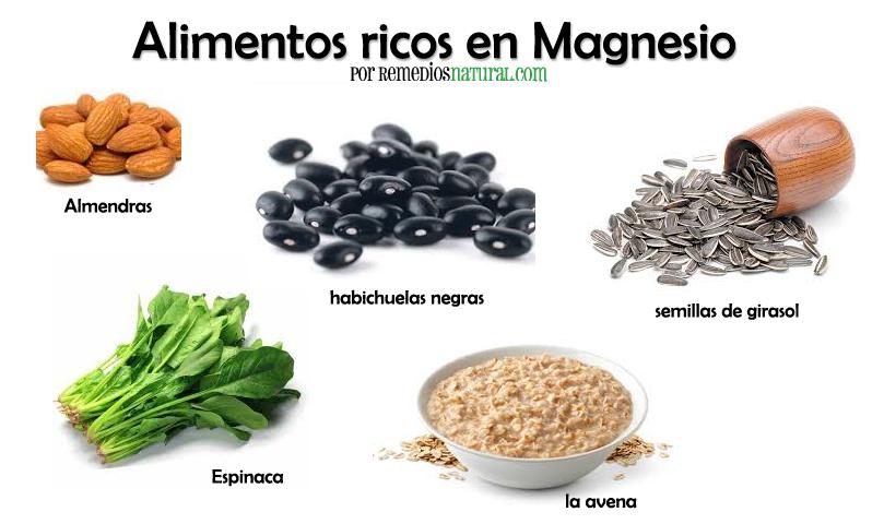 Indicaciones de que usted tiene deficiencia de magnesio - Alimentos naturales ricos en calcio ...