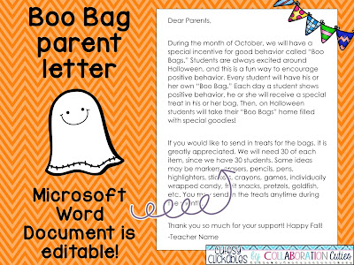 The primary peach boo bag freebie a fun behavior management give each student a brown paper bag and the boo bag template students color and cut out the template and paste it on their bags pronofoot35fo Gallery