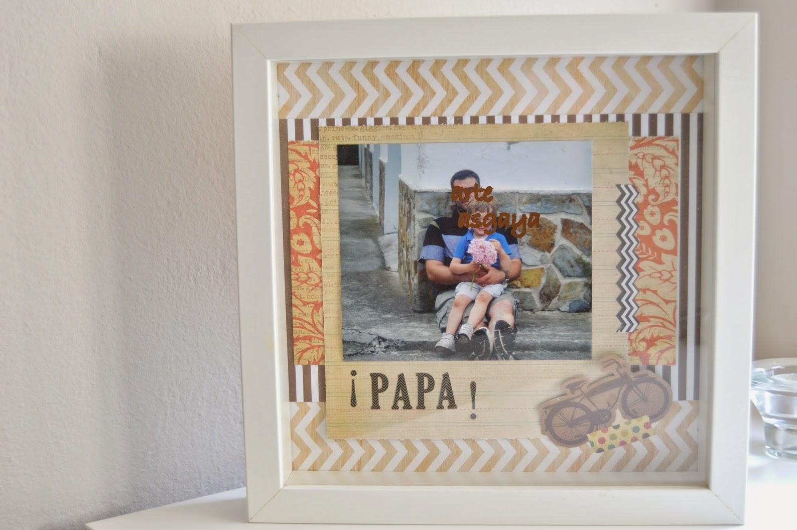 idea manualidades con fotos dia del padre