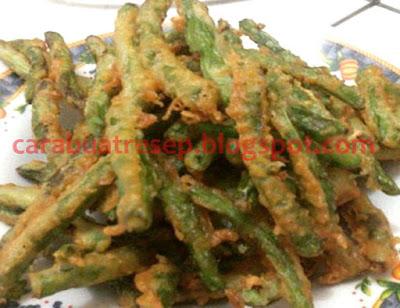 Foto Resep Buncis Goreng Tepung Bumbu Crispy Pedas yang Renyah Kriuk Sederhana Spesial Asli Enak