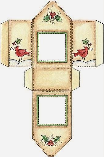 Pajaritos de Navidad: Cajas para Imprimir Gratis.