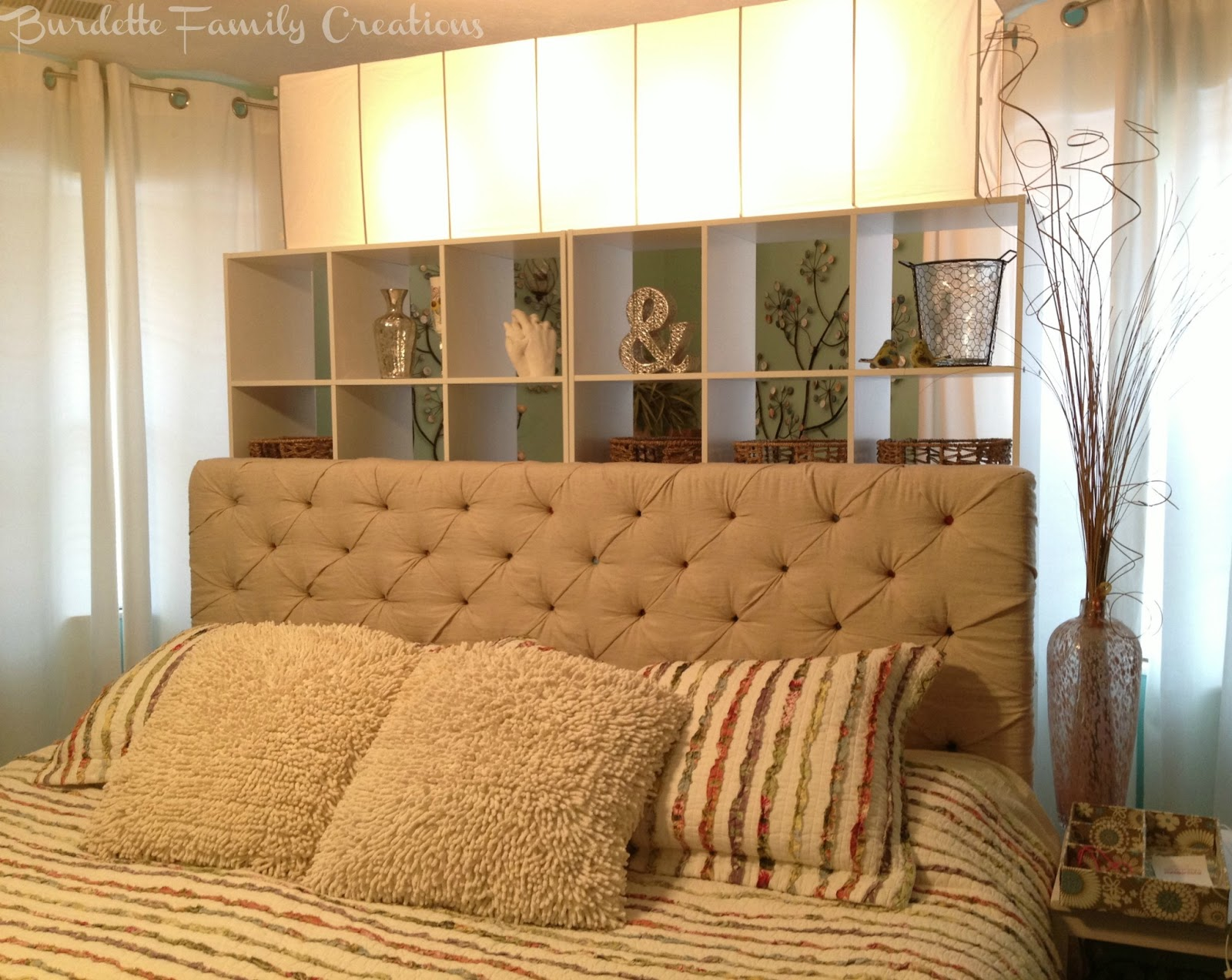Burdette Family Creations: My DIY Tufted King Headboard