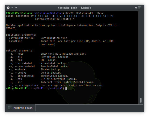 Hostintel - A Modular Python Application To Collect Intelligence For