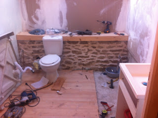 how to install a bathroom in a derelict house in brittany france