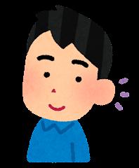五感のイラスト(聴覚・男性)