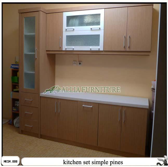 Kitchen Set Minimalis Simple Pines Allia Furniture