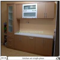 kitchen set minimalis simple pines