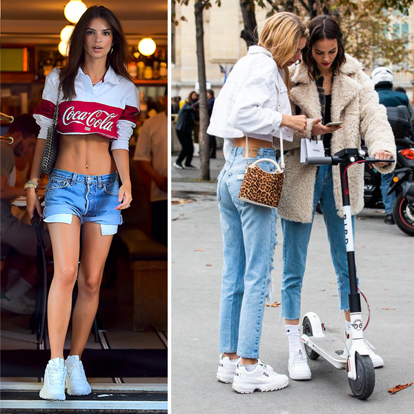 Fila Disruptor 2 sneaker street style outfits