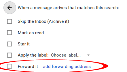 Gmail Forward it