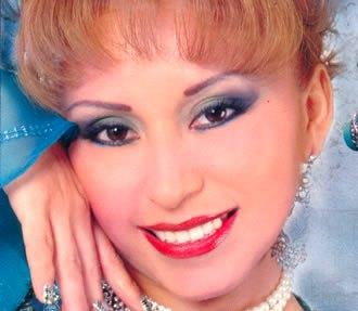 Rostro de Anita Santivañez con maquillaje
