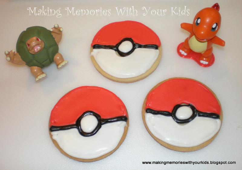 Pokemon Pokeball Cookies