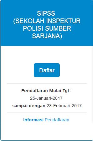 JADWAL PENDAFTARAN SIPSS POLRI 2017