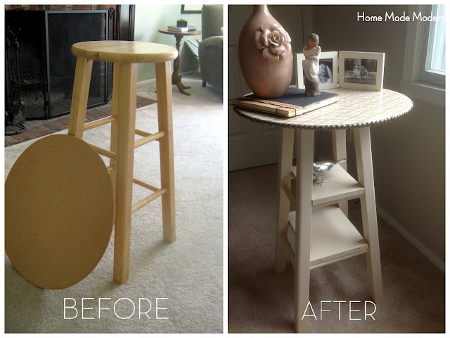nightstand from bar stool