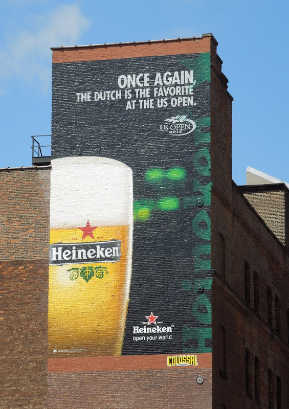 Heineken US Open 2012 billboard