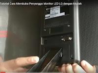Tutorial Cara Membuka Penyangga Monitor LED LG dengan Mudah
