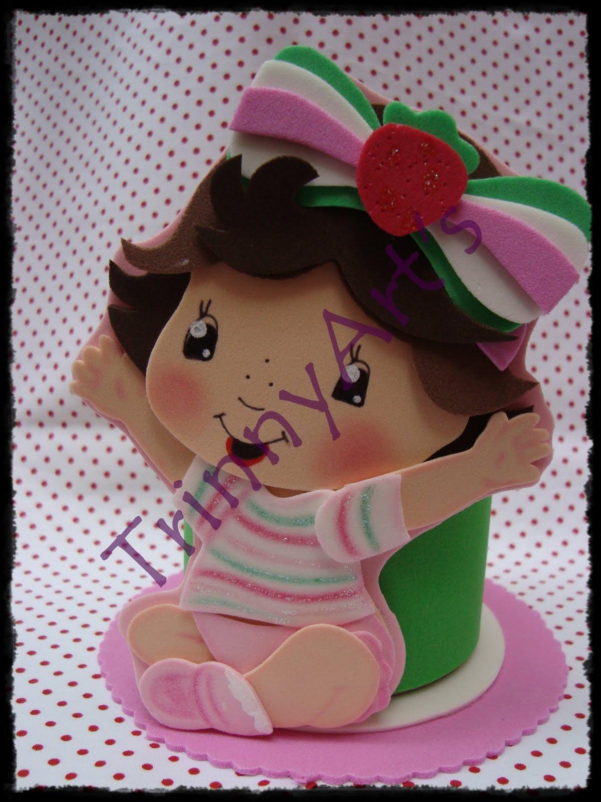 TrinnyArt's: Porta treco Moranguinho Baby - com molde!!! - photo#31