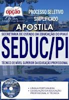 Apostila Concurso SEDUC-PI 2017 Técnico de Nível Superior