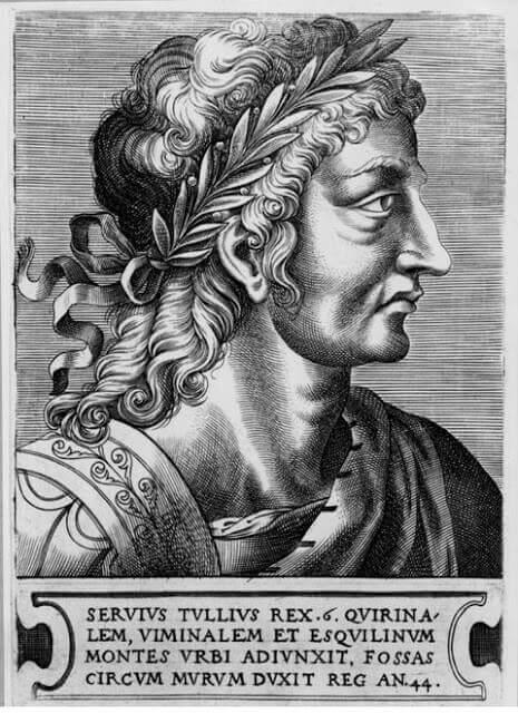 نكوس ماركيوسServius Tullius أحد  ملوك الرومان