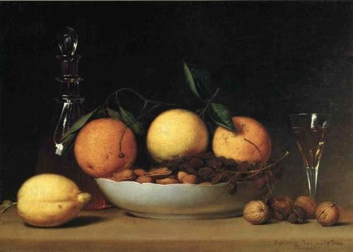 Raphaelle Peale, Un Dessert (Natura morta con limoni e arance)