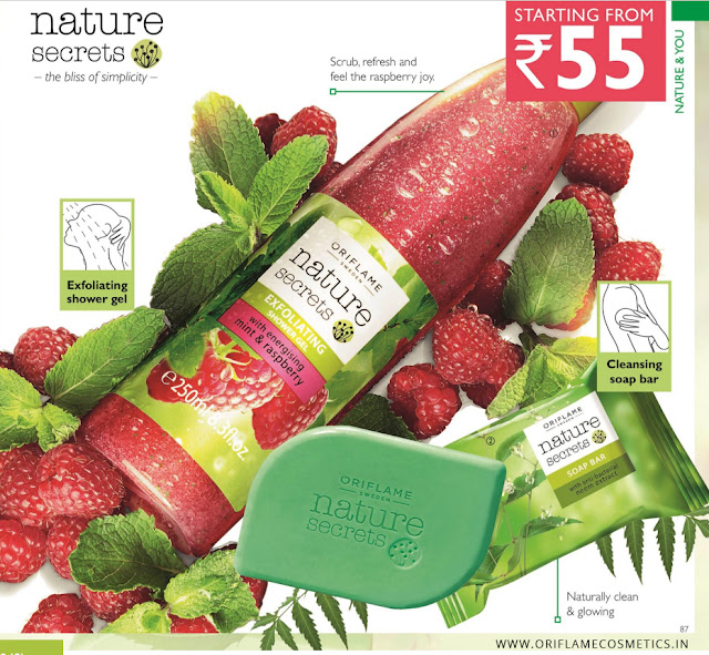 Oriflame Nature Secrets Mint & Raspberry Shower gel