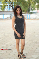 Actress Model Sravani Cute Stills in Silver Tight Short Dress at Pochampally IKAT Art Mela 2017 Launch  0007.jpg
