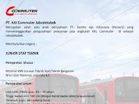 Lowongan Kerja KAI Commuter Jabodetabek Desember 2016 - Junior Staf Teknik