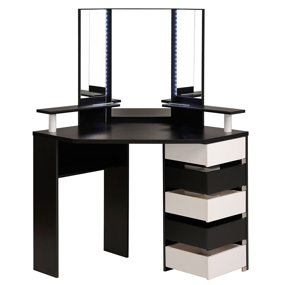 Modern bedroom dressing table with mirror - Modern Corner Dressing Tables For Small Bedrooms