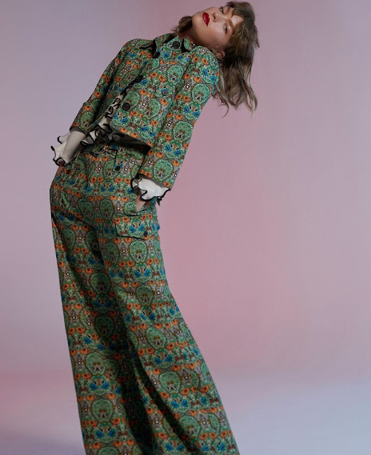 Жакет и брюки с принтом