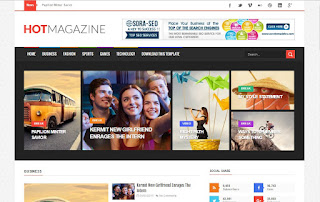 Hot magazine blogger template download