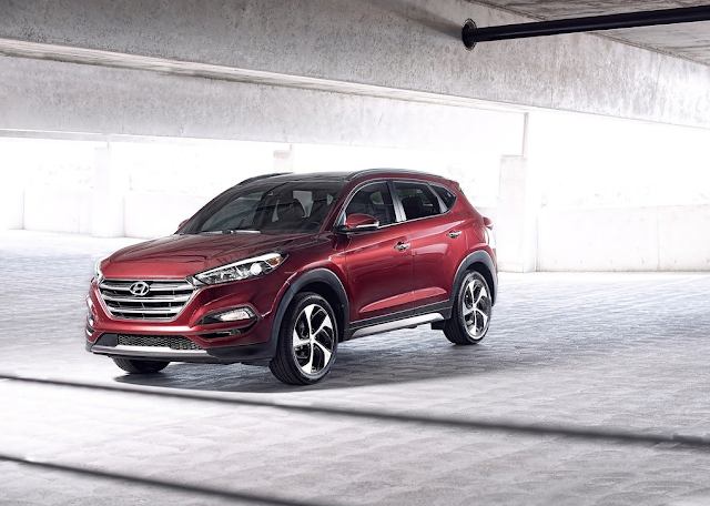 2016 Hyundai Tucson red
