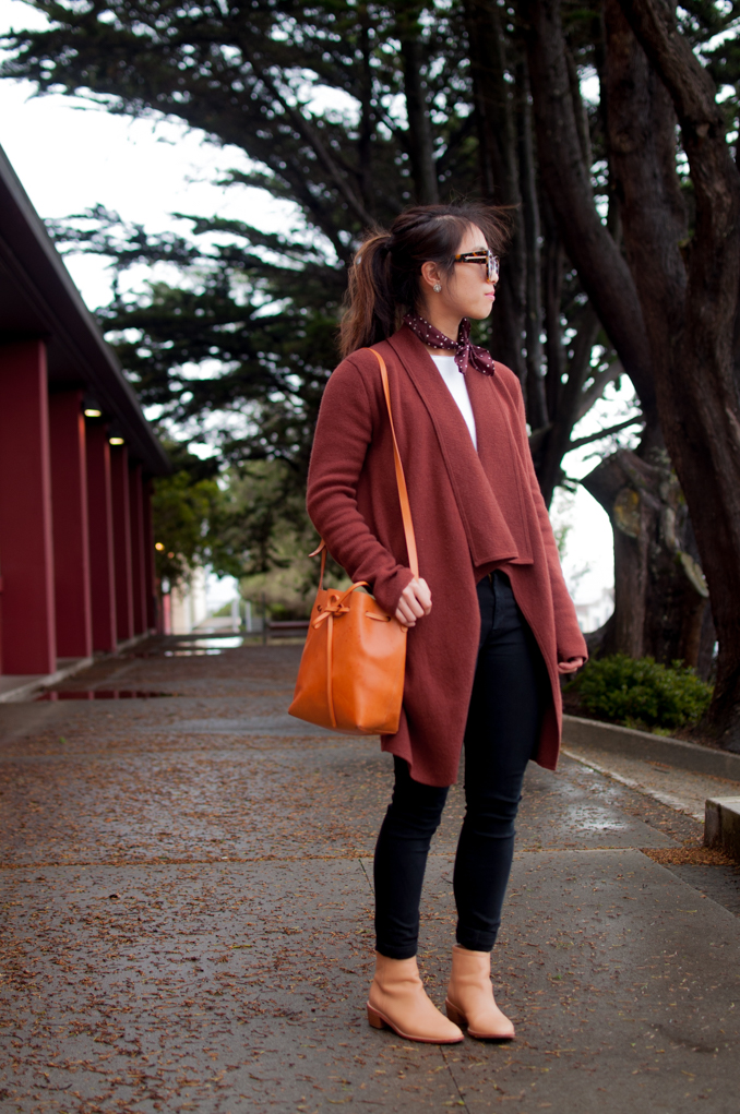 san francisco fashion blogger wearing margaret o'leary st. tropez long cardigan