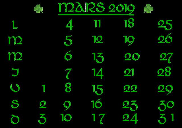 Calendrier De Mars 2019.Delire2scrap Tutorials Ftu Calendrier Mars 2019
