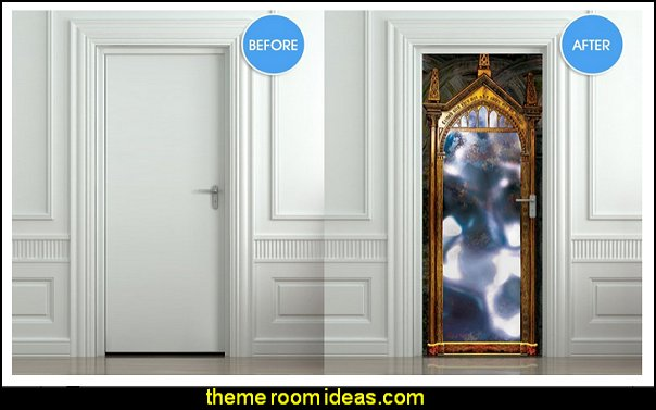 Door LAMINATED STICKER mirror of erised poster, mural