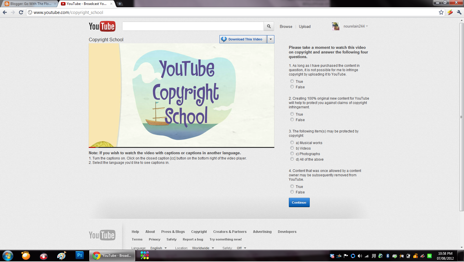 1 New Hacker: YouTube Copyright School Question And Answers