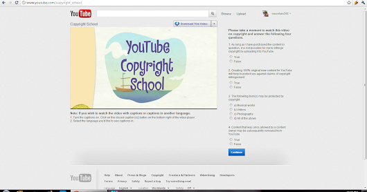 Youtube Copyright school question and answers