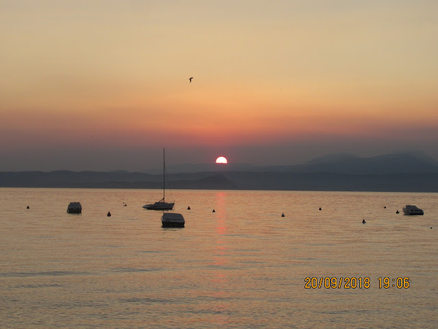 Sonnenuntergang Bardolino Gardasee Camping Continental