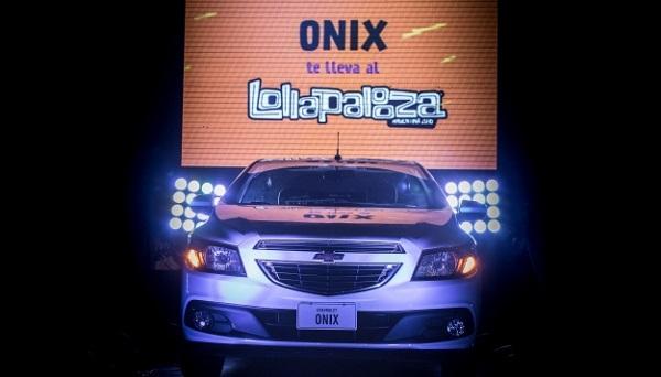 El Chevrolet Onix vuelve a ser el auto oficial del Lollapalooza