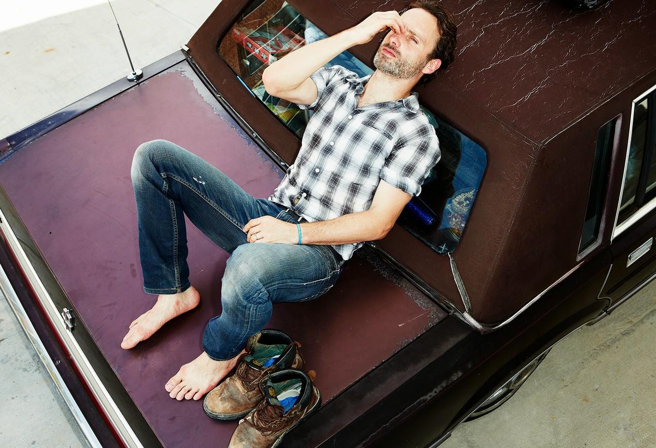 Straight Jock Feet: Andrew Lincoln Walking Dead stud feet...