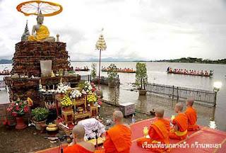 เทศกาลเวียนเทียนกลางน้ำ วัดติโลกอาราม จังหวัดพะเยา