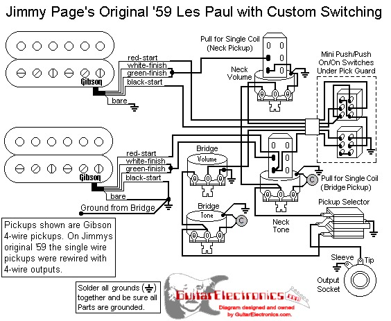 jimmy page wiring schematic jimmy page wiring diagram coil split guitarsenal: jimmy page number two 1959 gibson les paul ...