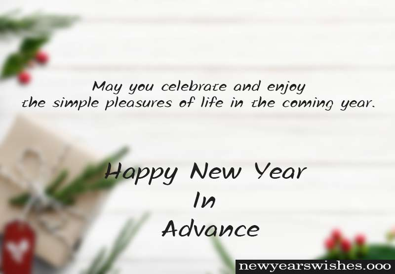 happy new year advance wishes images